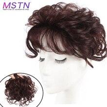 MSTN натуральный верхний шиньон, шиньон, шиньон для женщин, кудрявый, кукурузная борода, волосы, сменный зажим, накладные волосы
