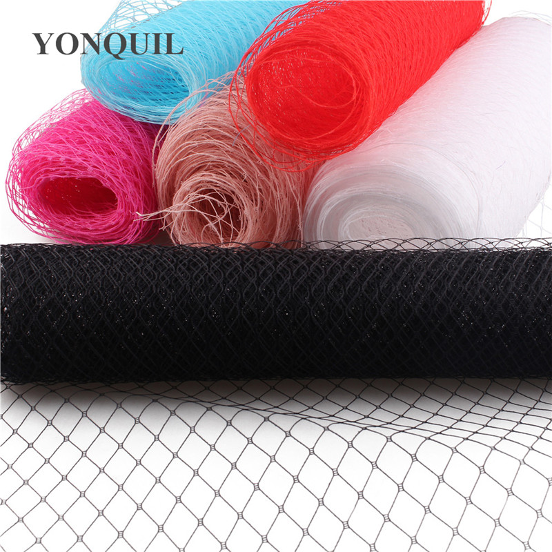 25/45 CM Width Russian Veiling Hat Birdcage Veils Netting Mesh Fabric For Wedding Millinery Trim Netting DIY Hair Accessories