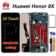 Ban Đầu Huawei Honor 8X Màn Hình Hiển Thị LCD JSN L21 JSN L42 JSN AL00 JSN L22 Màn Hình Cảm Ứng Dizigiter Hội Khung Danh Dự 8X LCD Một Phần