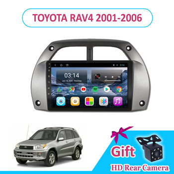 9'' IPS Android 9.0 TOYOTA RAV4 2001-2003/2004/2005/2006 Car Radio Multimedia GPS Navigation Navi Player Auto Stereo 2din WIFI image