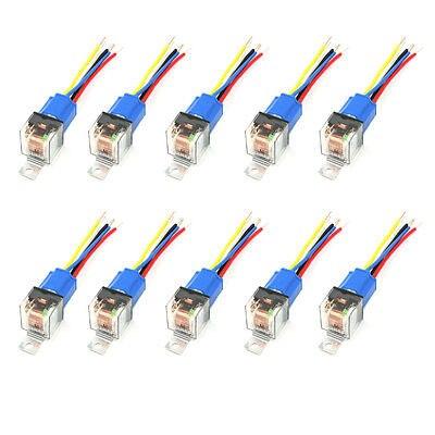 10 pièces douille céramique vert lampe pilote 5 broches NO + NC SPDT voiture relais DC24V 80A