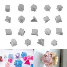 19 estilo forma de dados moldes de silicone cuboid moldes de dados para resina decorativa diy carfts uv cola epoxy resina molde jóias fazendo ferramentas