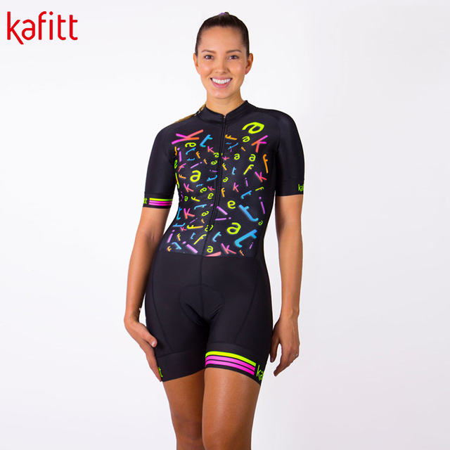 Kafitt novo pro ciclismo macacão terno senhoras triathlon equipe bicicleta de montanha macacão macaquinho feminino 2