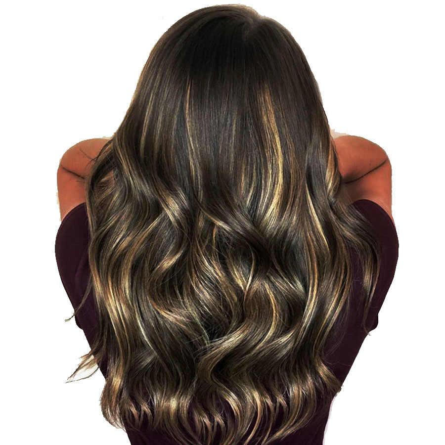 Парик из человеческих волос для женщин, с волнистым рисунком, 13 × 6 дюймов, 10 ''-32''
