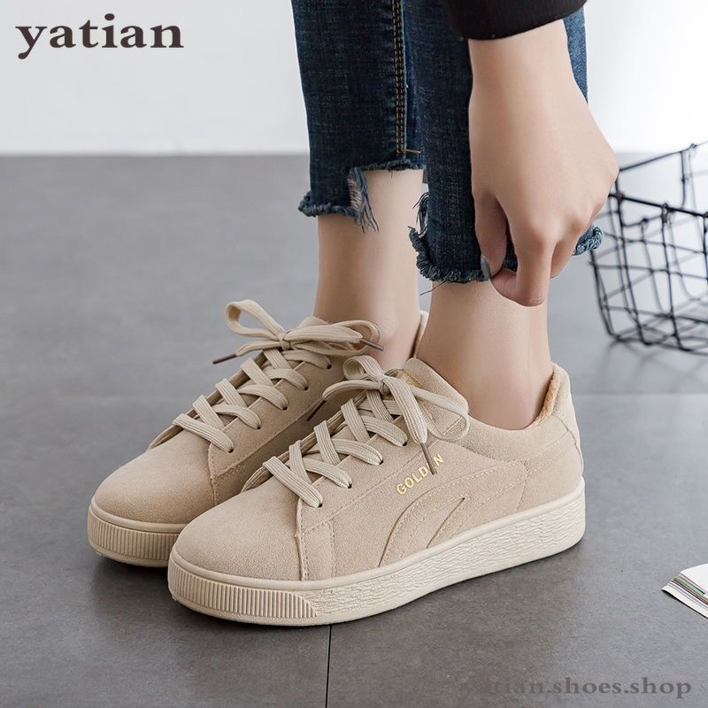Image 2 - 2019 Solid Beige Black Canvas Shoes Women Spring Lace Up Ladies Vulcanize Shoes Breathable Traveling Women Sneakers A064Womens Vulcanize Shoes   -