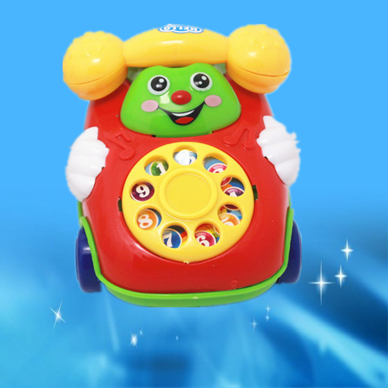 Small Bracing Wire Phone-shaped Car Smiley Model Phone Children Play House Toys Yiwu Toy Gift