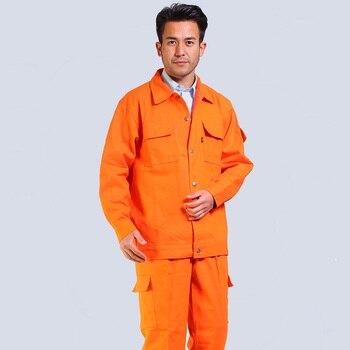 Men cotton coveralls working uniforms Autumn winter overalls welding suits Auto repair workshop Wear-resistant labor workwear