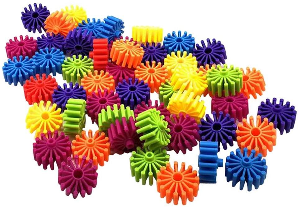 Children Gear Building Block Set Studs Insert Blocks Early Learning Educational Toys Birthday Gift for Baby Toddler Kids