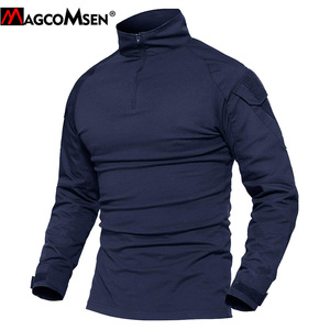 Image 2 - MAGCOMSEN camisetas tácticas de combate de camuflaje del ejército para hombre, camisetas militares de manga larga, Airsoft, Paintball, caza