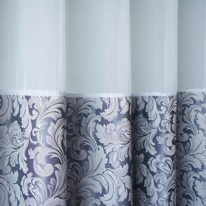 Image 3 - Usexta feira cortina de banho elegante, branco, gaze, poliéster, à prova dágua, grossa, jacquard, cinza, prata