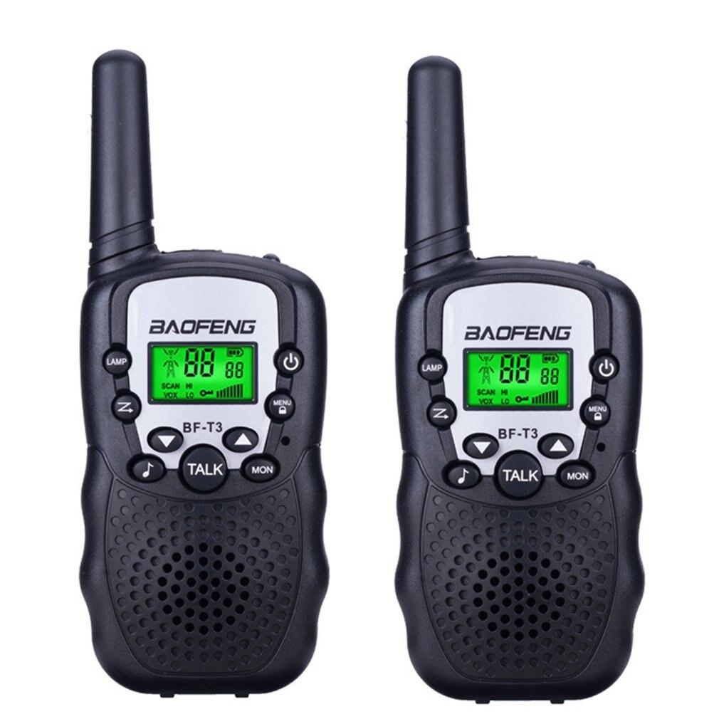2PCS Mini Children'S Walkie Talkie 1KM Range Handheld Walkie Talkie 2 Way Radios With Flashlight And LCD Screen Interphone Gift