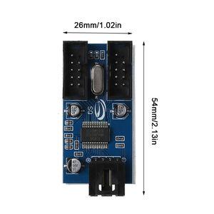 Image 2 - マザーボードのusb 9Pinインタフェースヘッダスプリッタ1 2に延長ケーブルエクステンダアダプタ9ピンusbハブ用pcコンピュータ