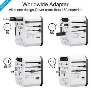 Image 3 - Adaptateur de voyage Rdxone adaptateur secteur universel chargeur adaptateur mondial prises électriques murales convertisseur de prises pour téléphones mobiles