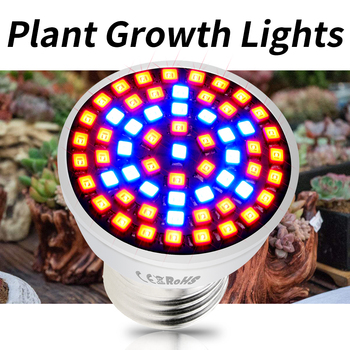 E27 Plant Light Full Spectrum LED Grow Bulb E14 LED Phyto Lamp GU10 Growing LED Hydroponic Tent Light MR16 48 60 80leds 220V B22 цена 2017