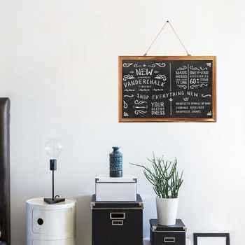Rectangle Hanging Wooden Message Blackboard Chalkboard Wordpad Sign Kids Board - DISCOUNT ITEM  24% OFF All Category