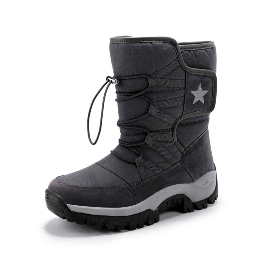 de inverno antiderrapante homens botas plataforma grossa