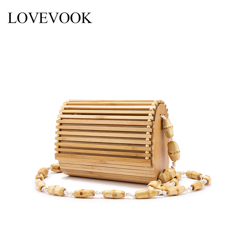Lovevook Bamboo Bags Women Rattan/straw Bags Female Summer Beach Bags For Travel Crossbody Bags For Ladies 2020 Beading Bohemia