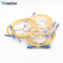 10 adet/grup 2M 3M 15M SC UPC SC UPC yama kablosu 3.0MM çap GG657B3 kablo Fiber optik Jumper yama kablosu
