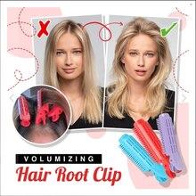 1/2 pçs volumizing grampo de raiz de cabelo natural macio clipe de cabelo dormindo nenhum calor plástico modelador de cabelo torção estilo de cabelo diy ferramenta