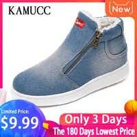 Kamucc 2019 Winter Plattform Stiefel Frauen Stiefel Super Warm Winter Casual Schuhe Frauen Cowboy Knöchel Stiefel Für Frauen 4 FARBE 35-44