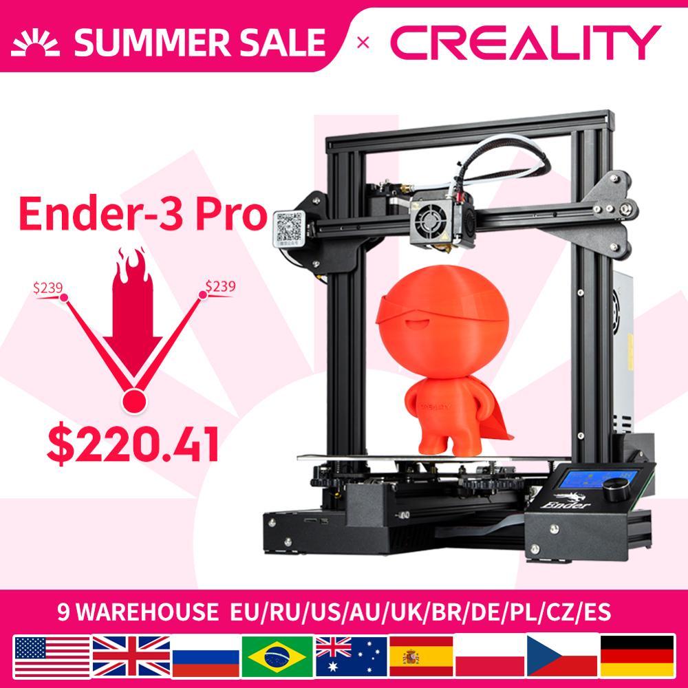 CREALITY 3D Ender 3 Pro Printer Printing Masks Magnetic Pad Plate Resume Power Failure Printing DIY KIT MeanWell Power Supplyfilament sensor3d printerprinter 3d -