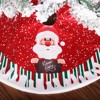 Christmas Ornaments  Xmas Snowman Foot Carpet Tree Skirt Mat Linen Printed Linen Christmas Tree Skirt Decoration Props kerst