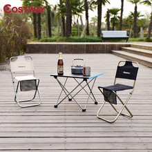 Quality Portable High Durable Outdoor Folding chair With Bag Outdoor Folding Fold Aluminum Chair Stool Seat Fishing Camping