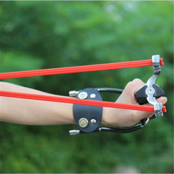Powerful Professional Two rubber band traditional slingshot high strength steel Hunting Catapult Hunter Folding Wrist Sling Shot