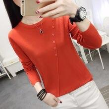 Suéteres informales para niña, suéter tejido delgado de estilo coreano, Camiseta de punto, suéter para mujer, Tops de camisa básica 2020
