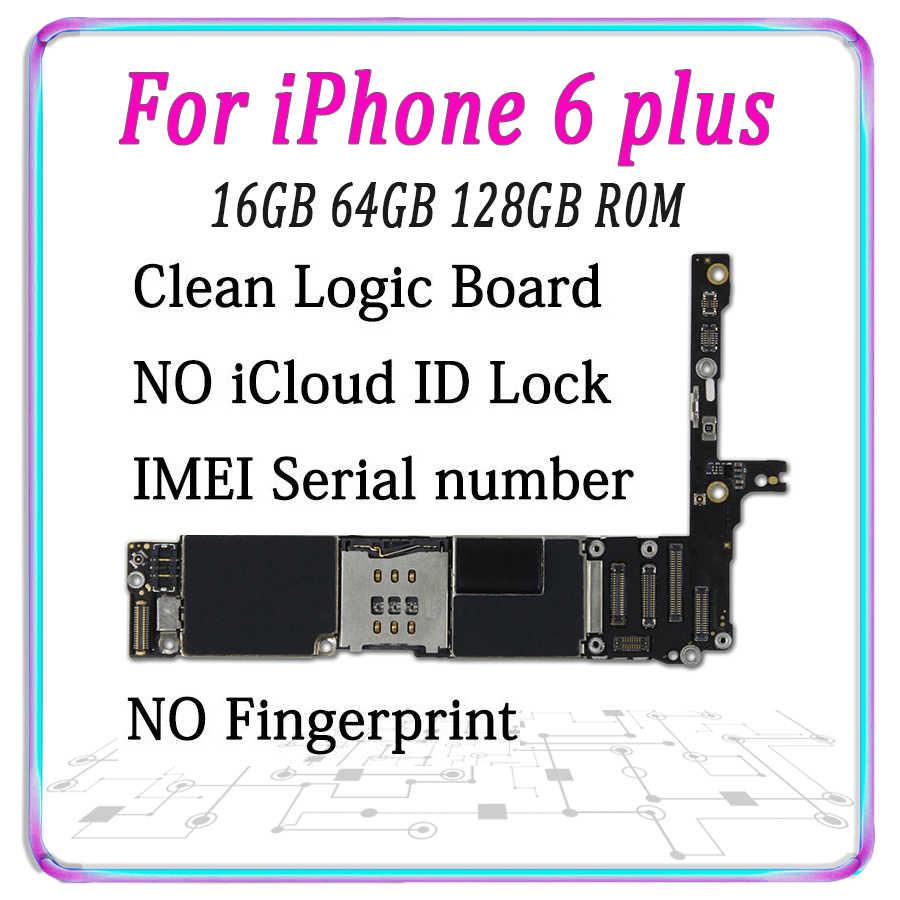 Оригинальная материнская плата для iPhone 6 P 6 Plus разблокированная материнская плата Бесплатный iCloud IOS без Touch ID основная плата MB 16GB 64GB 128GB