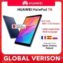 HUAWEI-Tablet PC MatePad T8, versión Global, 2GB16GB, LTE, 8,0 pulgadas, desbloqueo por facebload, Batería grande de 5100mAh, compatible con tarjeta microSD, Android 10, T8