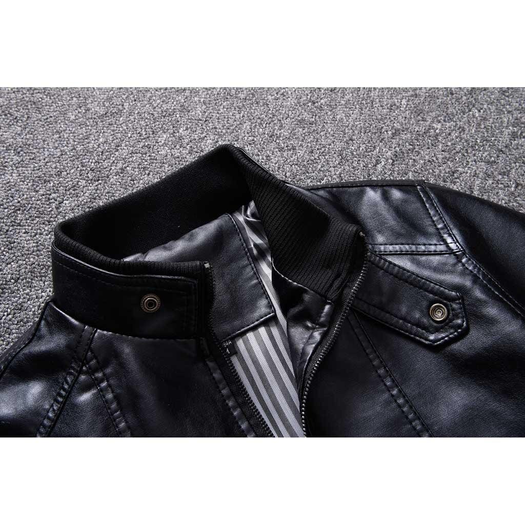 Hc5371e0376a04e87bf4893a15085d5e4Q Zipper Closure for Men Leather Jacket Autumn Winter Warm Fur Lining Lapel Leather outerwear layer дубленка мужская кожаная Coat
