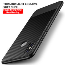Luxury Carbon Fiber Silicone Phone Case For Xiaomi Mi 8 8SE Redmi Note3 Ultra-thin Protection Cover Shell Coque(China)