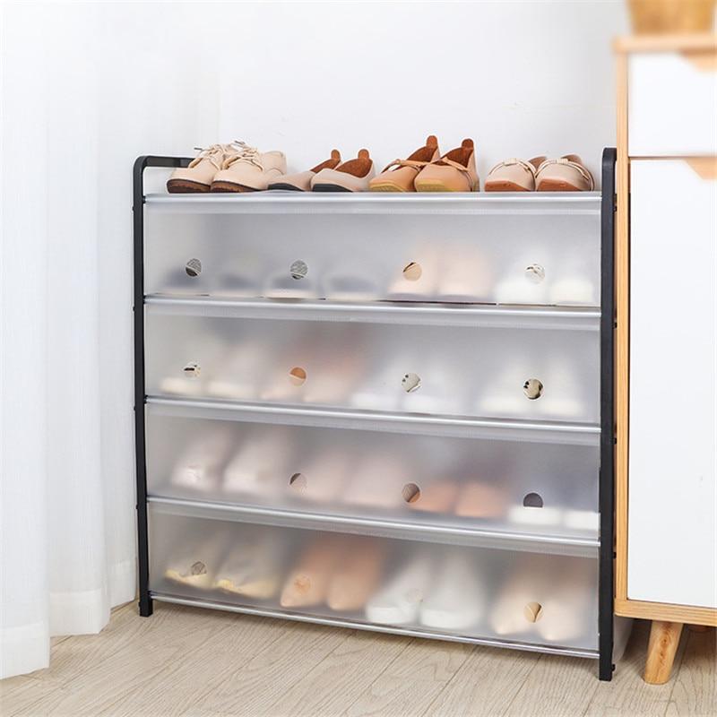 4/5 ярусов, чехол-органайзер, съемный пылезащитный шкаф для обуви, домашний стоячий компактный держатель, полка для обуви