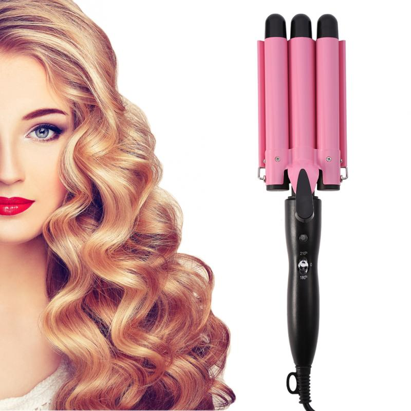 Hair Curling Iron Ceramic Triple Professional Triple Pipe Hair Curler Egg Roll Hair Styling Tools Hair Styler Wand Curler Irons