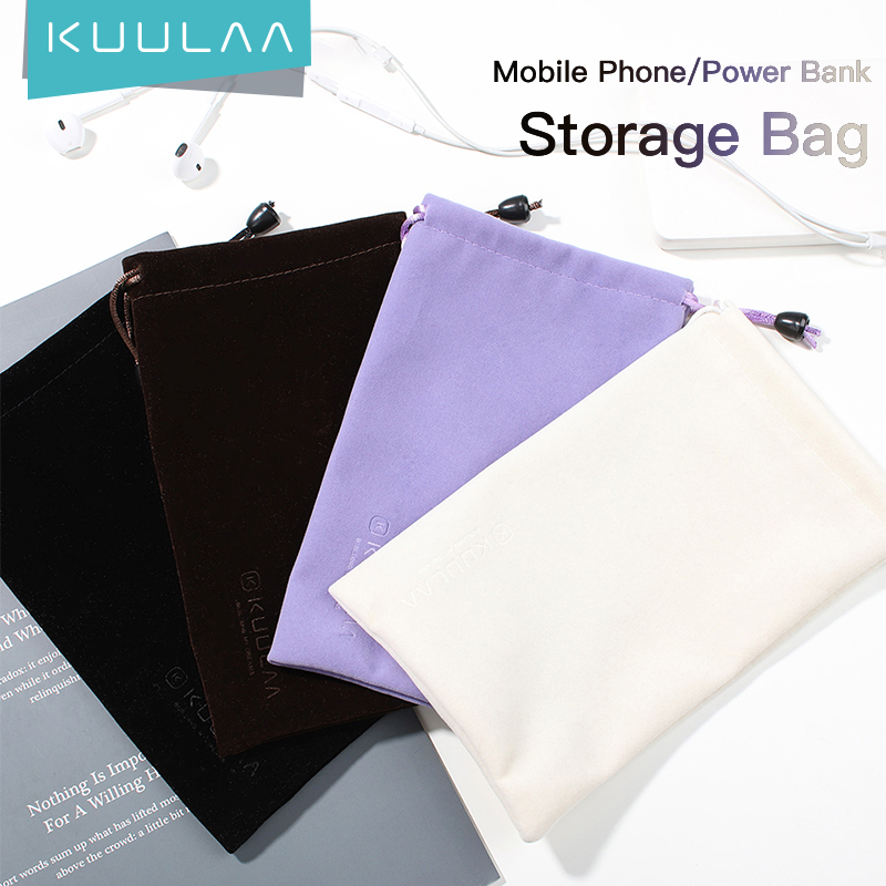 KUULAA Power Bank Case Phone Pouch for iPhone Samsung Xiaomi Huawei Waterproof Powerbank Storage Bag