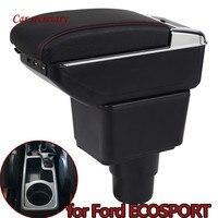 For Ford EcoSport Armrest Box EcoSport Universal Car Central Armrest Storage Box cup holder ashtray modification accessories|Armrests| |  -
