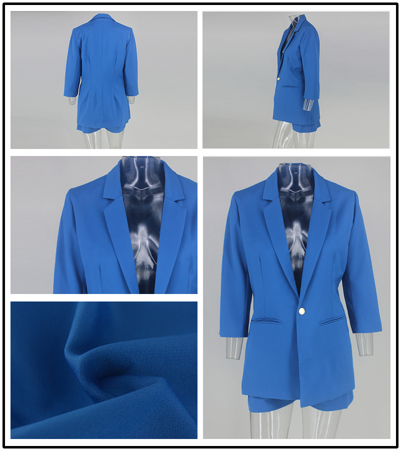PFFLOOK Work Ol Suit Female Blazer And Pants Suit Set Female Coat V Neck Sexy Chic Suit Women Office Set 2 Pieces Outfits Female 8