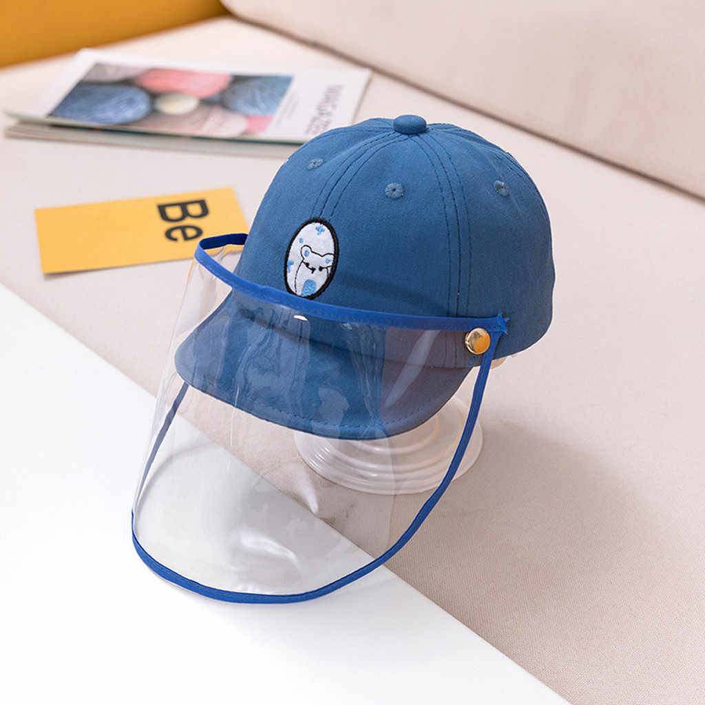 Outdoor Mask Hat Anti-spitting Protective Hat Children Anti-droplet Spreading Protect Hats Dustproof Cover Kids Boys Girls Hats
