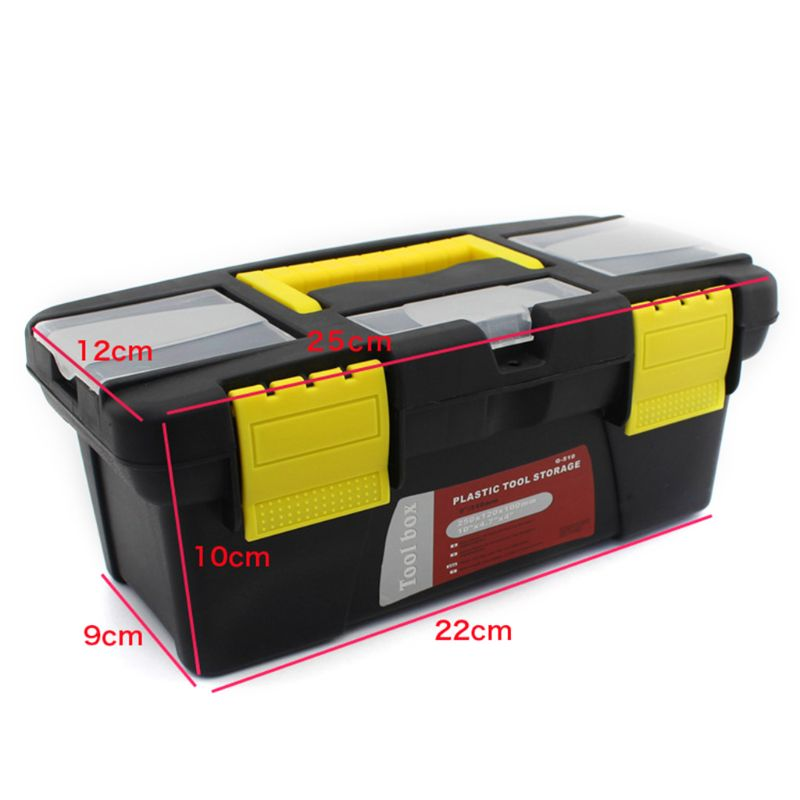 Portable Hardware Storage Box Repair Tool Box Case Multi-Function Home Toolbox