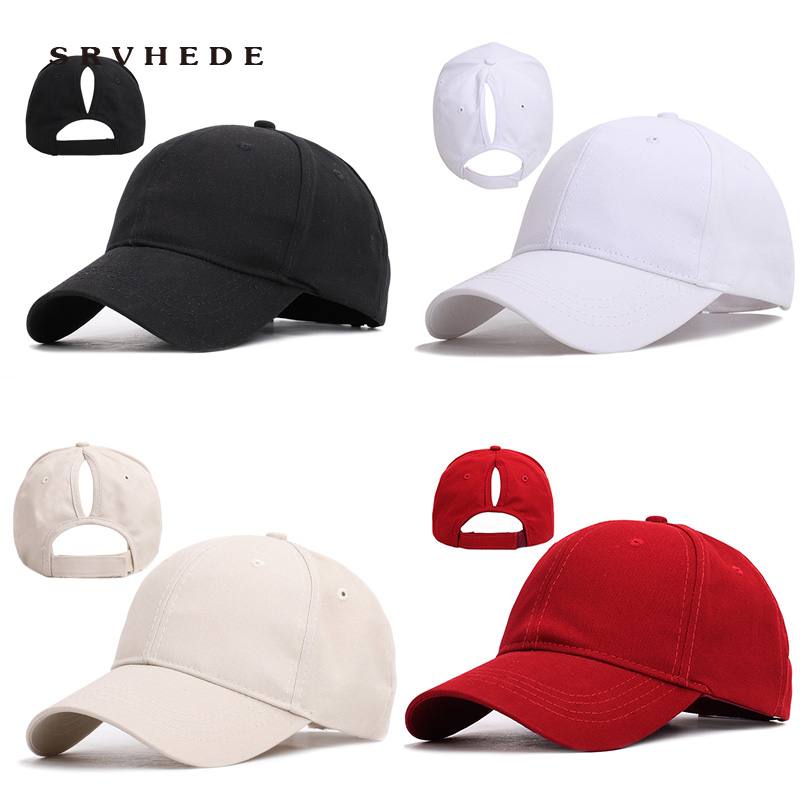 Ponytail Baseball Cap Female Ponytail Adjustable Cap Snapback Outdoor Shade Ponytail Caps