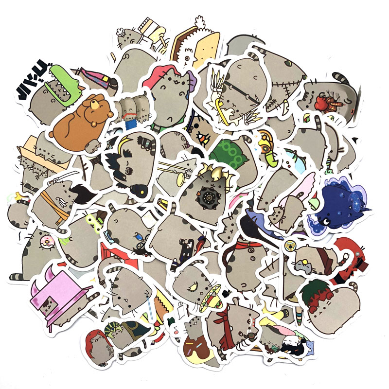 100pcs/pack Cute Fat Cat Decoration Stickers Diy Paper Sticker Scrapbooking For Diary Album Label Sticker Bullet Journal Sticker