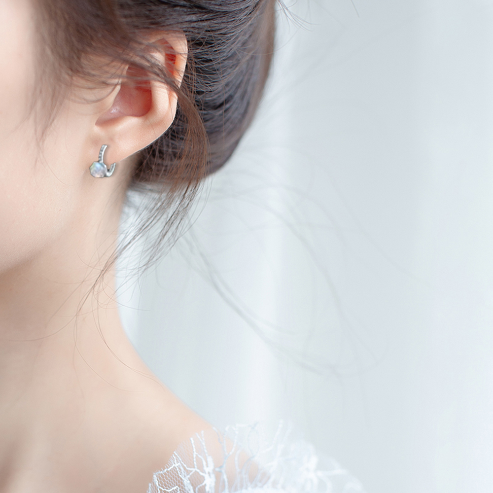 Earrings For Women Stainless Steel Steampunk Fashion Simple  Round Women Silver Hoop Earrings Jewelry Pendientes Accessories