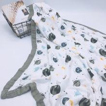 4 слоя мультфильм бамбуковое муслиновое дерево детское муслиновое одеяло Одеяло пеленка лучше, чем Anais Детское/бамбуковое одеяло младенческое одеяло