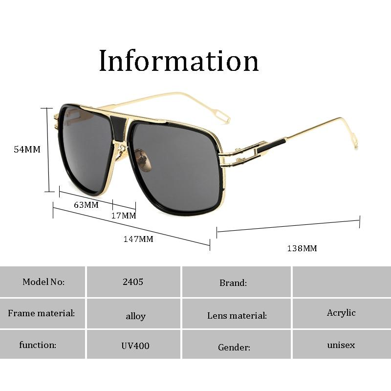 Classic Oversized Men Sunglasses Luxury Brand Women mach one Sun Glasses Square retro Oculos de sol Male UV400 Mirror Eyewear 4