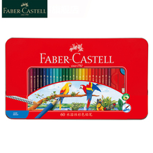 Faber Castell 24/36/48/60/72 Watercolour Pencils Drawing Natural Wood Colored Pencils For Art Painting Sketch Supplies 115949
