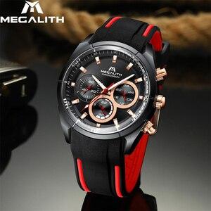 Image 5 - Relogio masculino MEGALITH spor su geçirmez saatler ordu askeri erkekler saatler üst marka lüks kuvars erkek saat toptan 8049