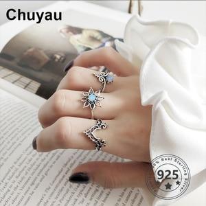 Chuyau Opal Vintage Flower 925