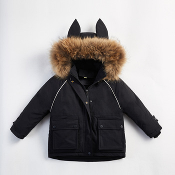 Children's down jacket girls in the long section of the winter new Korean version of the big children's thick coat