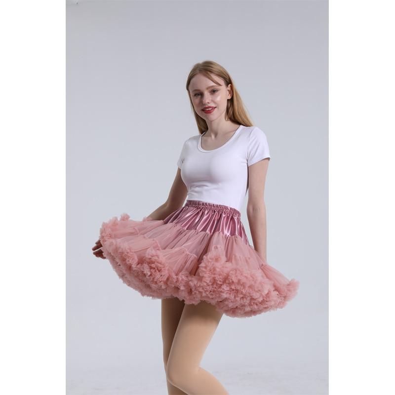 Dusty Pink Women Petticoat Wedding Accessories Tulle Puffy Skirt rockabilly Tutu Dress